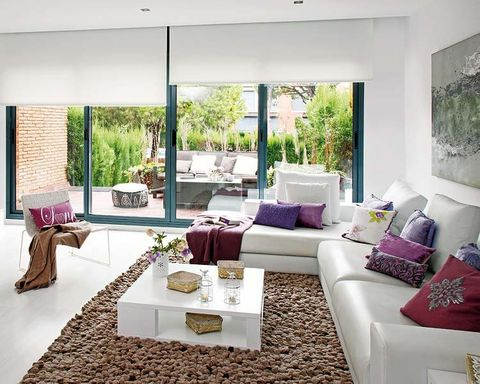 Room, Interior design, Living room, Table, White, Couch, Furniture, Home, Floor, Wall,