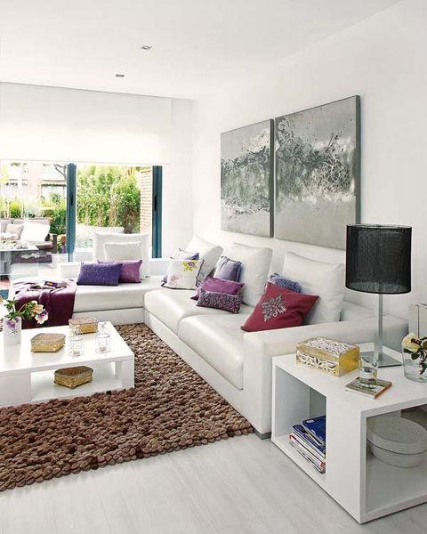 Room, Interior design, Living room, Home, Wall, Couch, Floor, Purple, Interior design, Lavender,