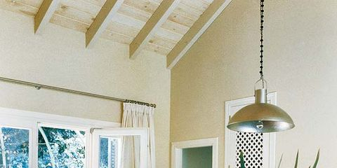 Interior design, Floor, Room, Ceiling, Flooring, Table, Furniture, Light fixture, Glass, Teal,