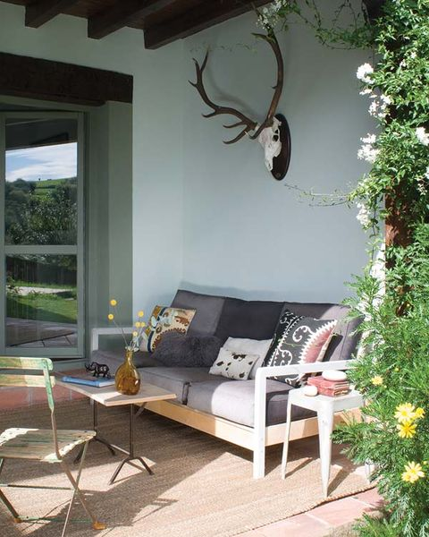 Wood, Room, Interior design, Furniture, Home, Couch, Wall, Living room, Table, Antler,