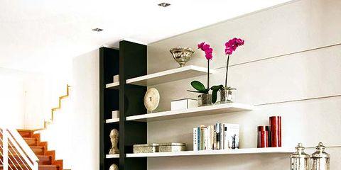 Interior design, Room, Stairs, Shelving, Floor, Wall, Interior design, House, Shelf, Home,