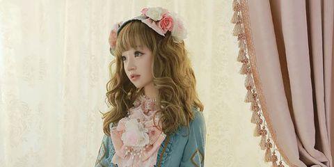 Clothing, Ruffle, Victorian fashion, Dress, Waist, Fashion, Sleeve, Pink, Costume design, Day dress,