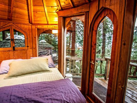 Bedroom, Room, Property, Furniture, Building, Bed, Interior design, House, Architecture, Tree,