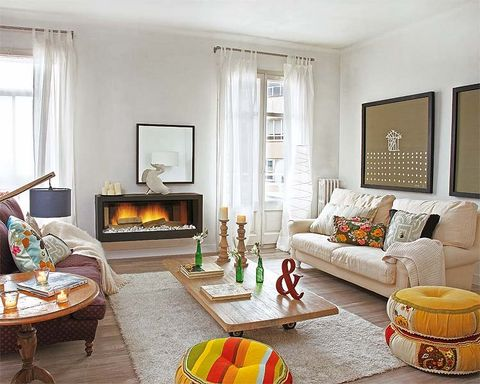 Room, Interior design, Yellow, Living room, Property, Furniture, Floor, Home, Wall, Table,