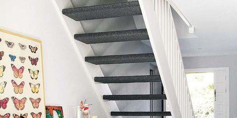Stairs, Floor, Room, Interior design, Flooring, Ceiling, Home, Interior design, House, Fruit,