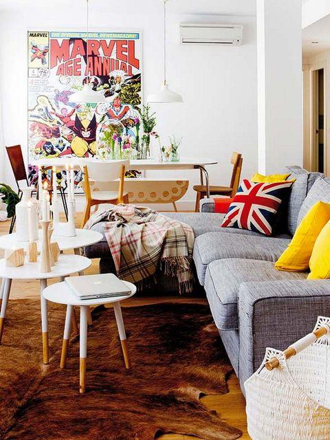 Room, Interior design, Textile, Furniture, Home, Linens, Interior design, Pillow, Home accessories, Grey,