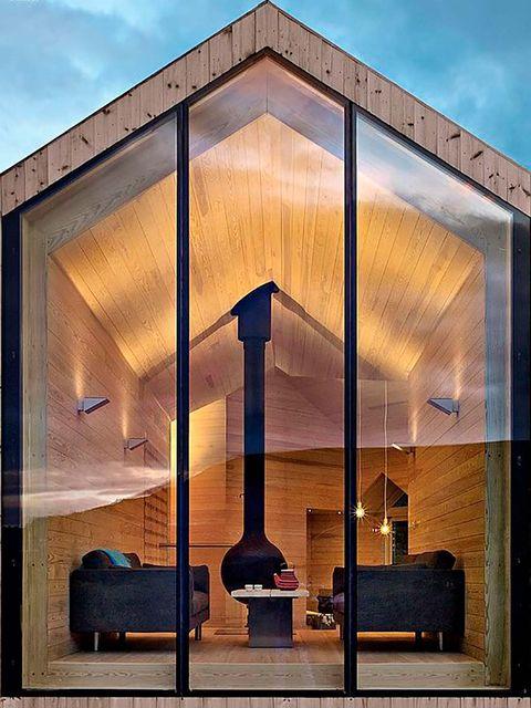 Architecture, House, Sky, Building, Interior design, Home, Design, Room, Facade, Material property,