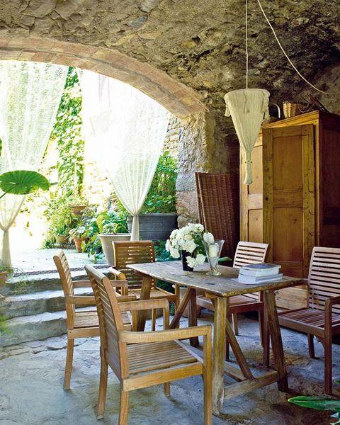 Wood, Room, Furniture, Interior design, Table, Hardwood, Chair, Ceiling, Light fixture, Interior design,