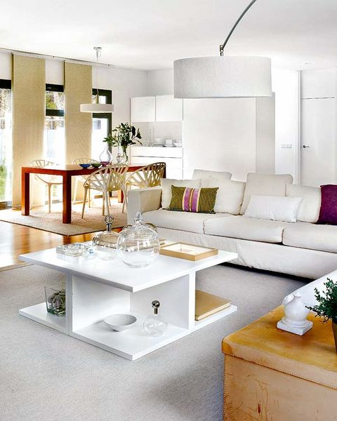 Interior design, Room, Wall, Living room, White, Couch, Furniture, Table, Interior design, Home,
