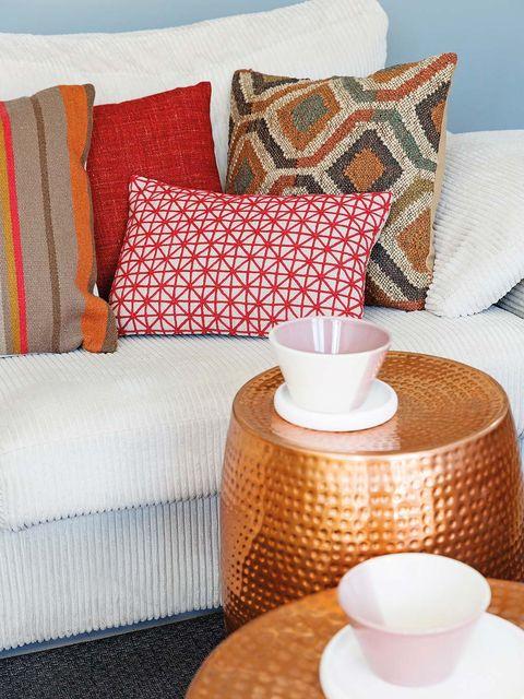 Cojines cálidos para el sofá
