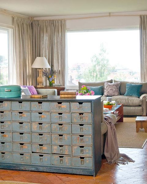Furniture, Chest of drawers, Room, Drawer, Interior design, Table, Curtain, Home, Living room, Desk,