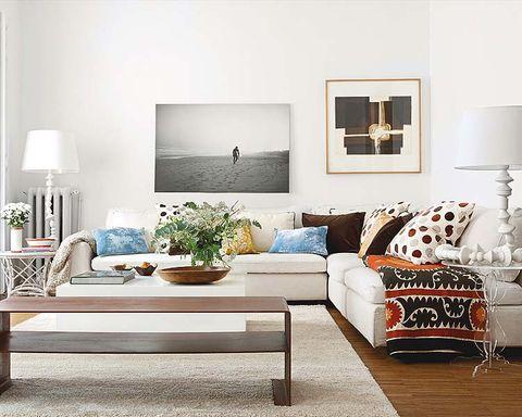 Room, Interior design, Living room, Wall, Home, Lamp, Furniture, Interior design, Floor, Pillow,