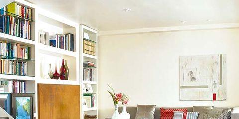 Room, Interior design, Floor, Flooring, Shelf, Bookcase, Living room, Wall, Interior design, Shelving,