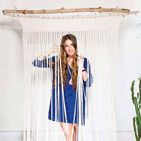 Blue, White, Clothing, Shoulder, Fashion, Clothes hanger, Outerwear, Fashion design, Textile, Sleeve,