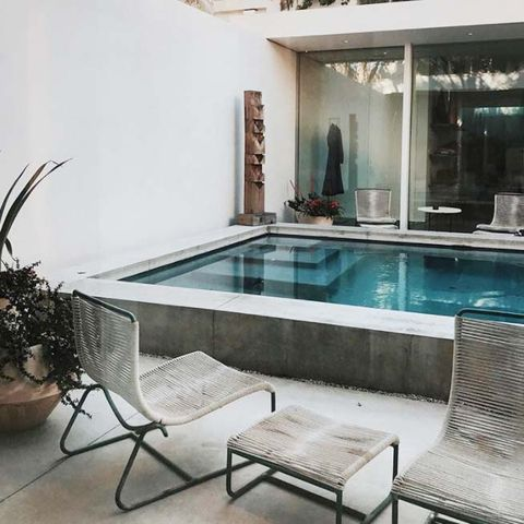 Property, Swimming pool, Building, Room, Interior design, Furniture, House, Table, Home, Real estate,