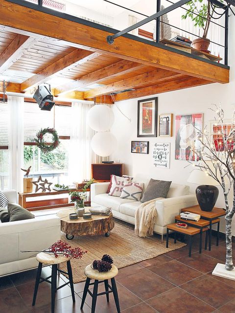 Room, Interior design, Wood, Floor, Living room, Home, Table, Furniture, Couch, Ceiling,