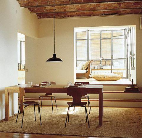 Wood, Interior design, Room, Floor, Flooring, Table, Furniture, Wall, Ceiling, Light fixture,