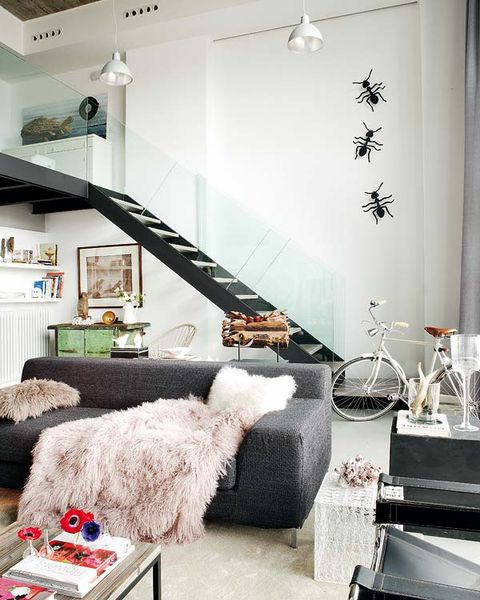 Room, Interior design, Stairs, White, Home, Wall, Furniture, Ceiling, Interior design, Floor,