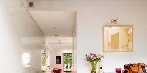 Floor, Flooring, Room, Interior design, Bag, Ceiling, Tile, Interior design, Luggage and bags, Tile flooring,