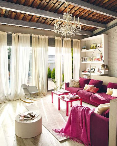 Interior design, Room, Textile, Ceiling, Floor, Interior design, Light fixture, Couch, Home, Living room,