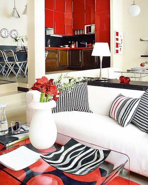 Room, Interior design, Home, White, Furniture, Interior design, Floor, Orange, Living room, Home accessories,