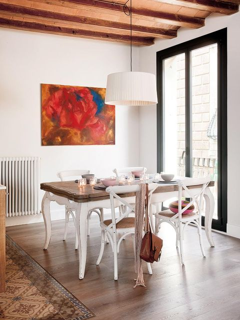 Wood, Floor, Room, Interior design, Flooring, Table, Furniture, Ceiling, Hardwood, Wall,
