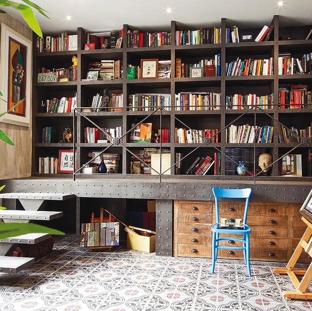 librería factory style