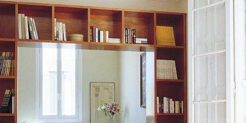 Wood, Room, Interior design, Floor, Shelf, Flooring, Home, Hardwood, Shelving, Living room,