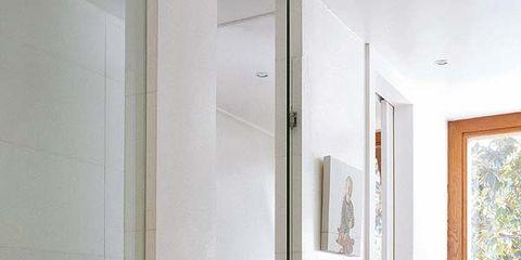 Room, Wall, Interior design, Floor, Flooring, Glass, Fixture, Daylighting, Molding, Home accessories,