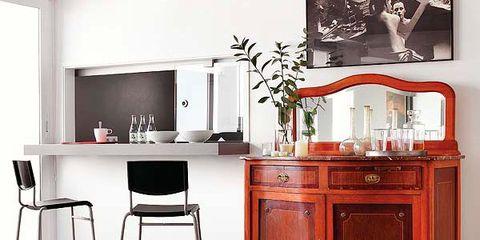 Wood, Room, Floor, Interior design, Furniture, Flooring, Table, Cabinetry, Drawer, Drink,