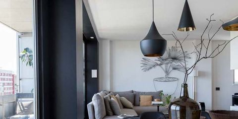 Room, Interior design, Wood, Floor, Table, Furniture, Flooring, Interior design, Couch, Living room,