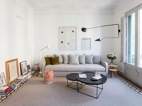 Living room, Room, Furniture, Interior design, Property, Floor, Building, Table, Coffee table, House,