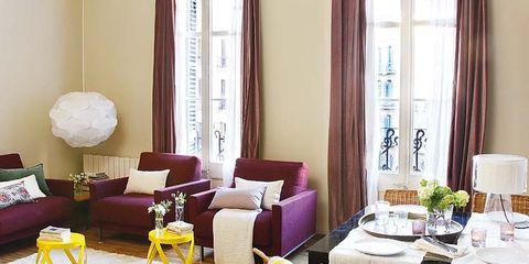 Interior design, Room, Furniture, Living room, Table, Interior design, Lamp, Home, Curtain, Home accessories,