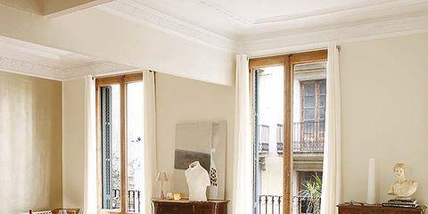Room, Interior design, Wood, Floor, Furniture, Flooring, Table, Interior design, Hardwood, Ceiling,