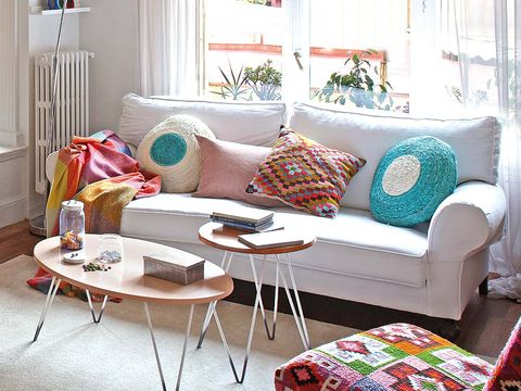 Room, Interior design, Green, Home, Living room, White, Table, Furniture, Couch, Wall,