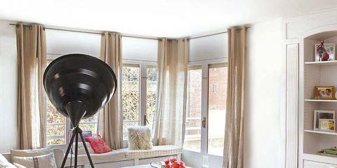 Room, Floor, Interior design, Flooring, Furniture, Wall, Wood flooring, Interior design, Hardwood, Shelf,