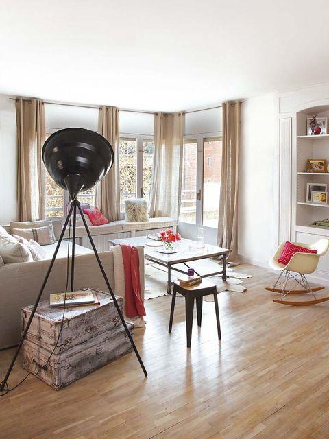 Wood, Room, Floor, Interior design, Flooring, Furniture, Wood flooring, Hardwood, Laminate flooring, Interior design,