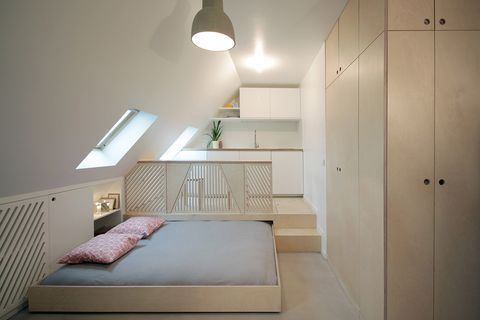 Room, Bed, Furniture, Property, Bedroom, Interior design, Ceiling, Floor, Lighting, House,
