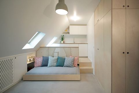 Room, Bed, Furniture, Bedroom, Property, Interior design, Floor, Ceiling, Lighting, House,