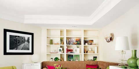 Green, Room, Interior design, Living room, Home, Wall, Furniture, Interior design, Couch, Picture frame,