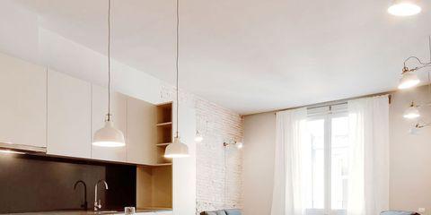 Floor, Room, Wood, Interior design, Flooring, Table, Furniture, Couch, Interior design, Ceiling,