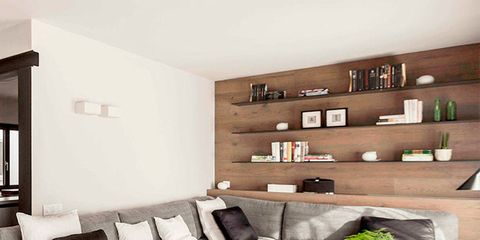 Living room, Furniture, Room, Interior design, Property, Couch, Floor, Wall, Brown, Home,