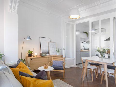 piso reformado para una familia