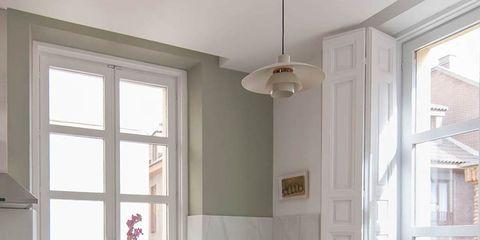 Room, Wood, Interior design, Table, Furniture, Glass, Ceiling, Interior design, Light fixture, Home,