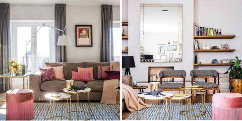 Room, White, Furniture, Interior design, Pink, Home, Living room, Property, Building, House,
