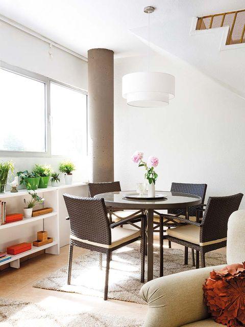 Room, Interior design, Floor, Furniture, Ceiling, Table, Wall, Light fixture, Home, Interior design,