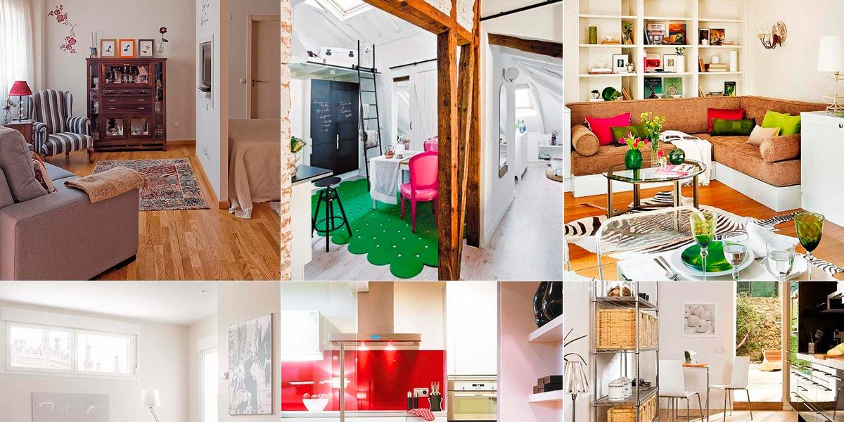 Diez pisos y apartamentos de 50 metros o menos for Decoracion de casas de 36 metros cuadrados