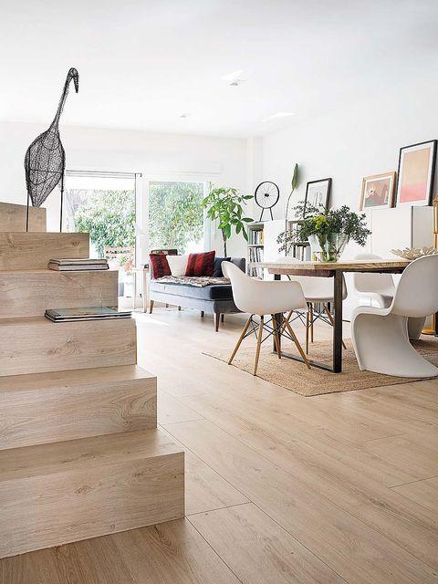 Floor, Wood flooring, Laminate flooring, Flooring, Interior design, Hardwood, Property, Room, Tile, Wood,