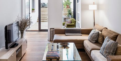 Living room, Room, Ceiling, Interior design, Property, Building, Furniture, House, Coffee table, Floor,