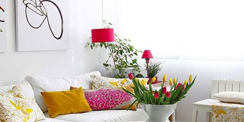Interior design, Room, Furniture, Table, Couch, Hat, Interior design, Costume accessory, Petal, Home accessories,